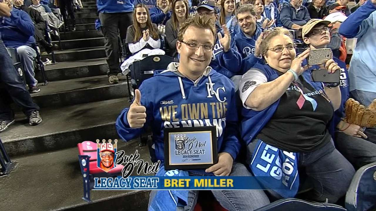 Male breast cancer survivor watches Game 6 from O'Neil seat