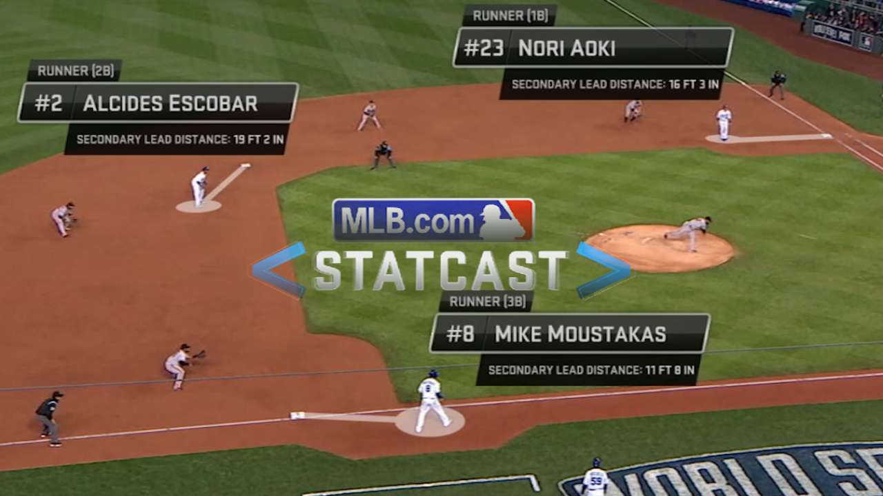 Statcast: Escobar motors home