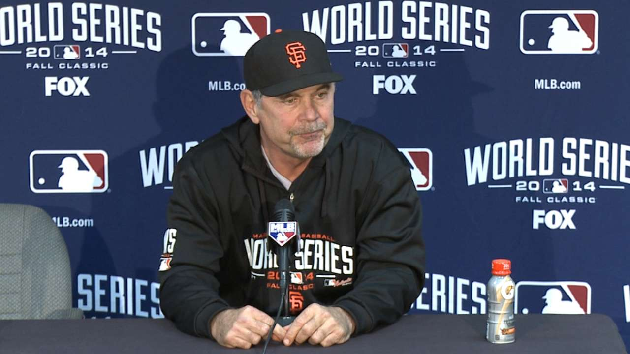 Bochy primed to put up best bullpen in Game 7