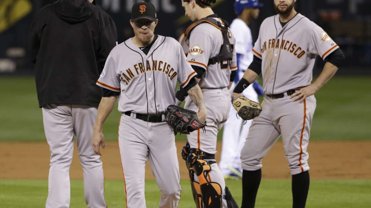 Bochy on Peavy's Game 6 outing