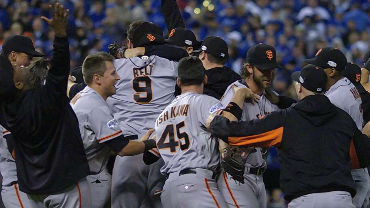 Even better: Giants add 2014 Series title to '10, '12