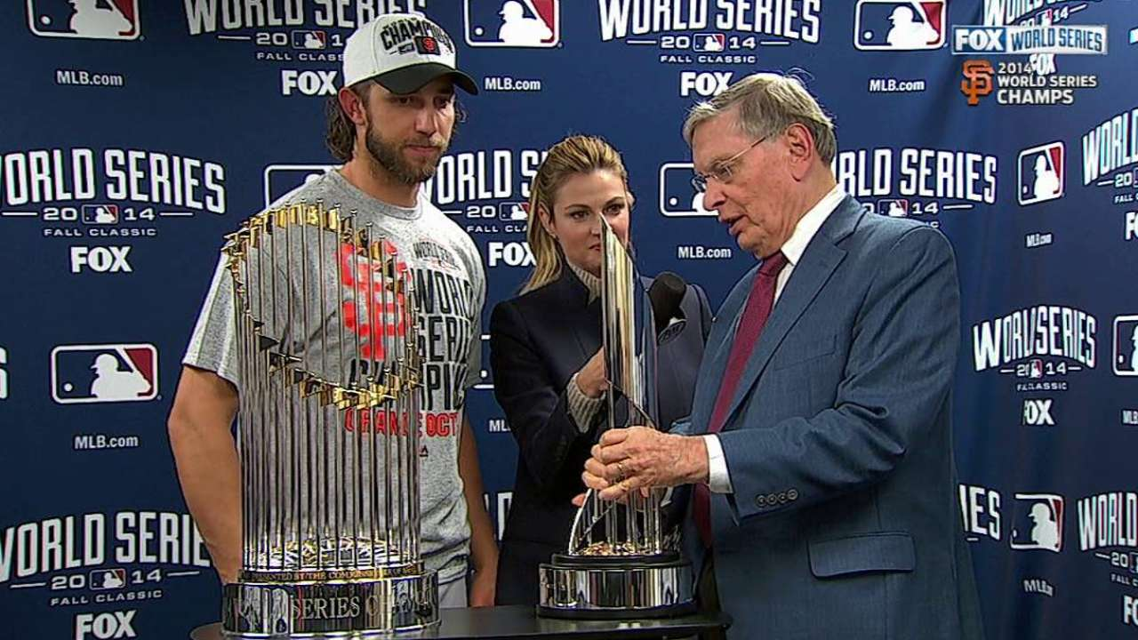 Giants win Series, MadBum MVP