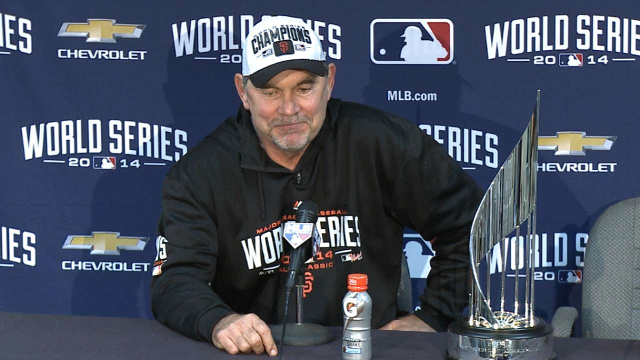 Bochy on World Series win