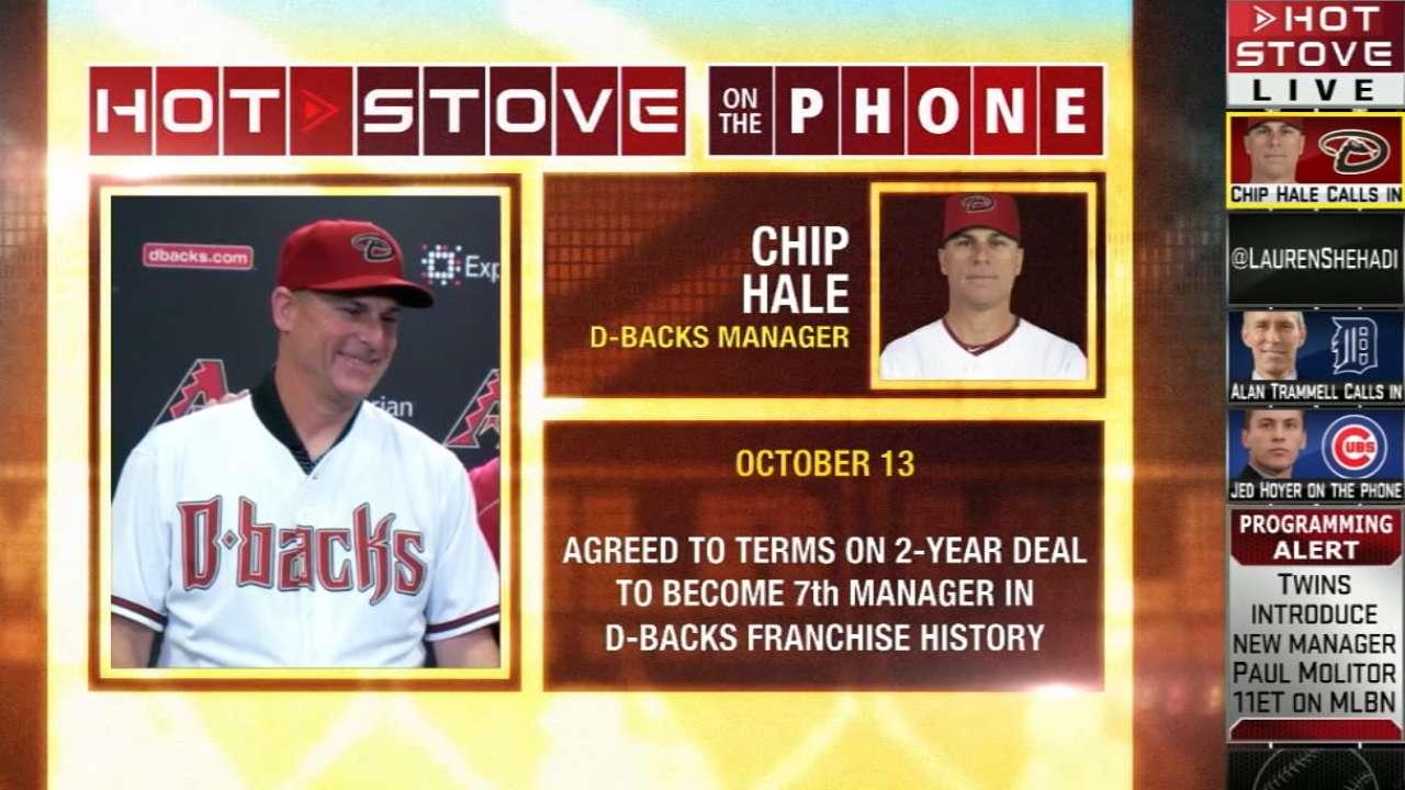 Hale talks D-backs on Hot Stove