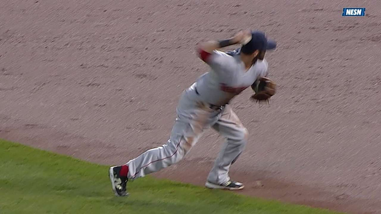 Pedroia sets Red Sox infield mark with fourth Gold Glove