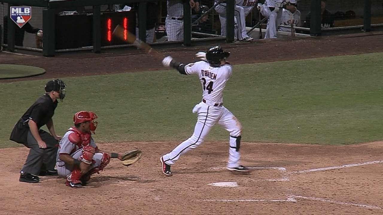 O'Brien's three-hit game