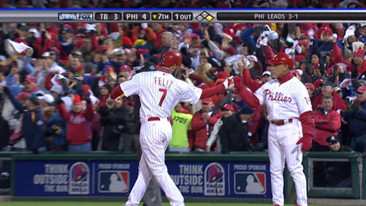 Feliz frozen in Phillies history thanks to clutch hit