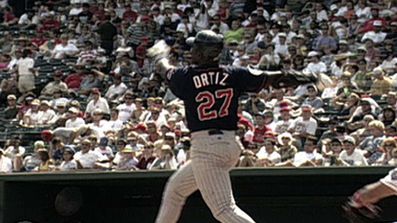 Ortiz's first career home run