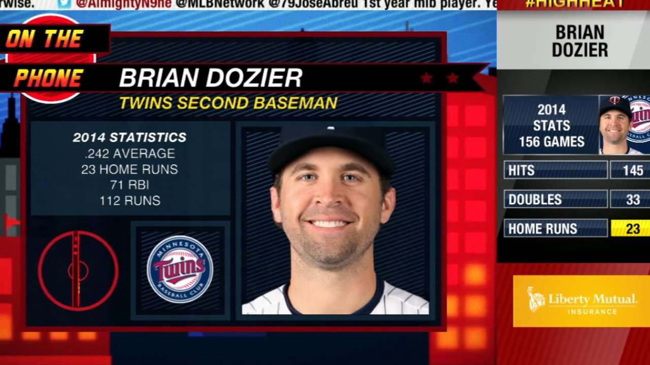 Dozier preparing to build on breakout season with Twins