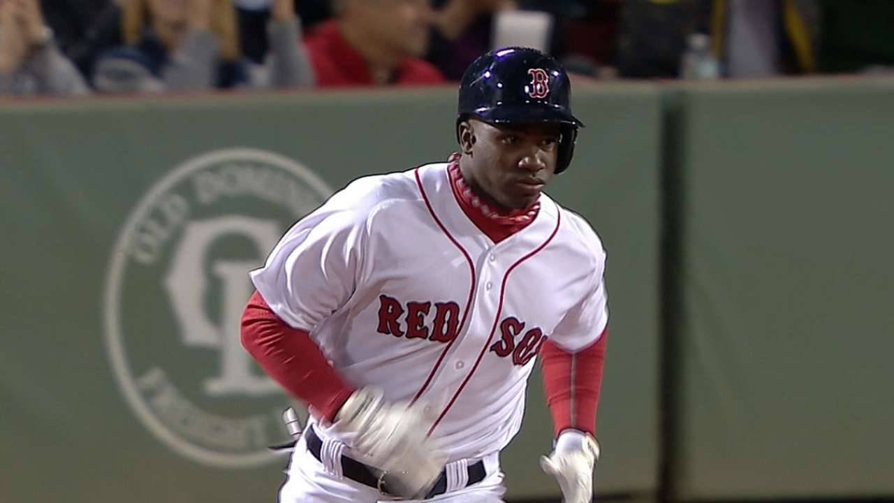 Castillo brings solid bat, great speed to Red Sox outfield
