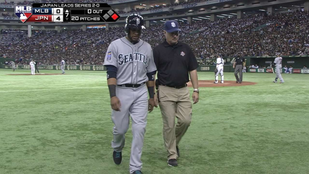 Cano out of Japan Series with toe fracture