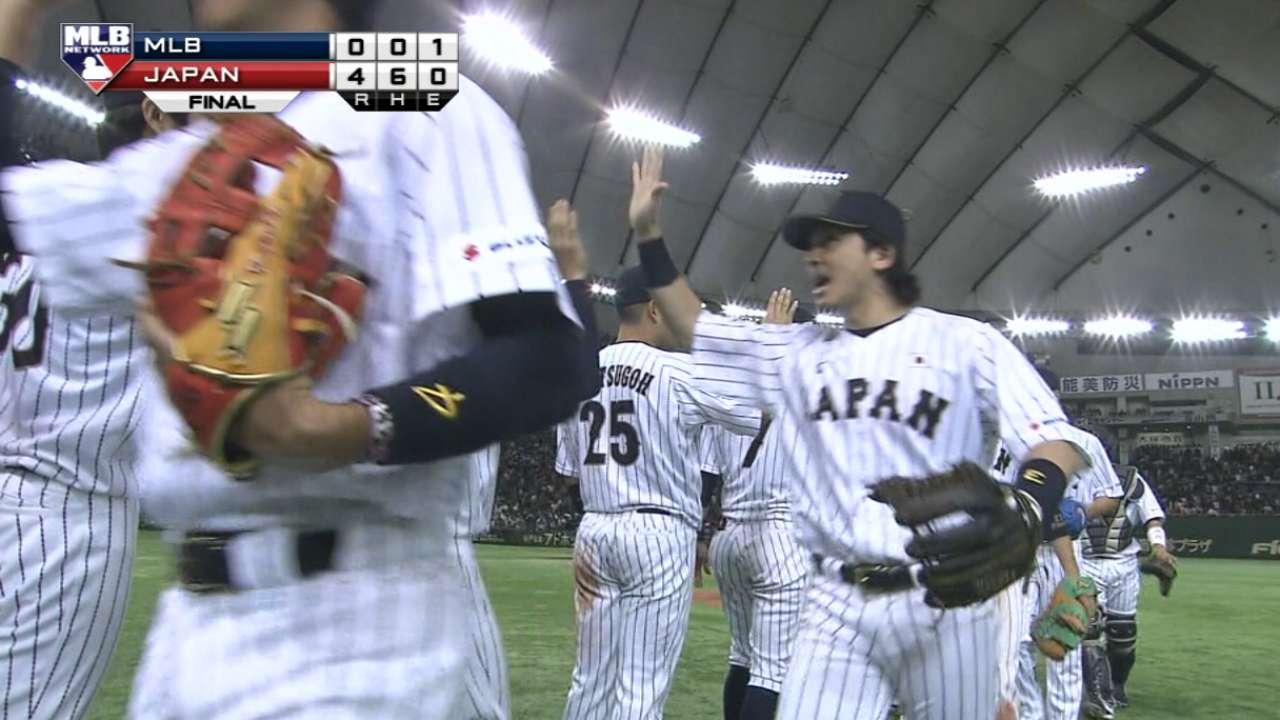 Pitchers de Japón dejaron sin hits a equipo de MLB