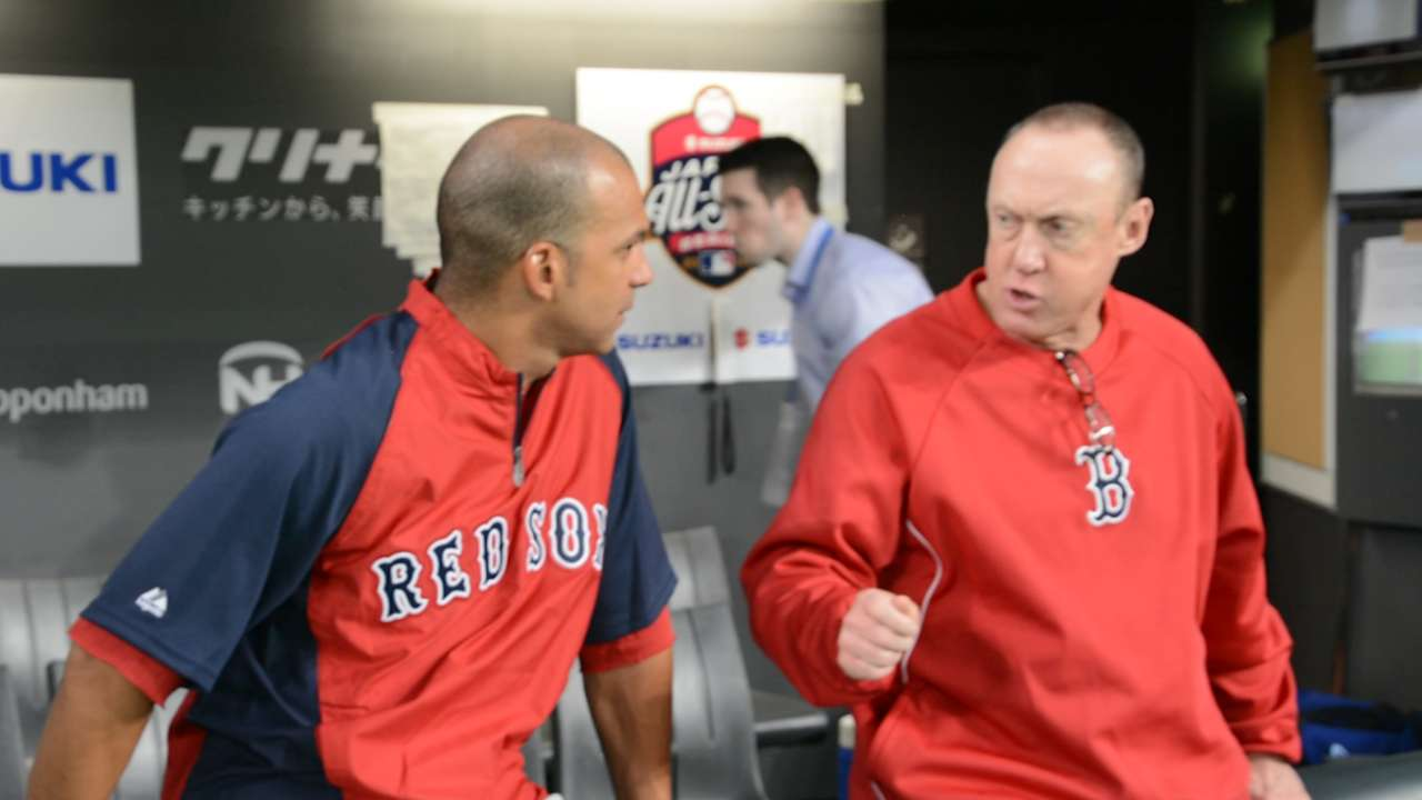 Farrell, Francona and Hale thrilled to reunite in Japan