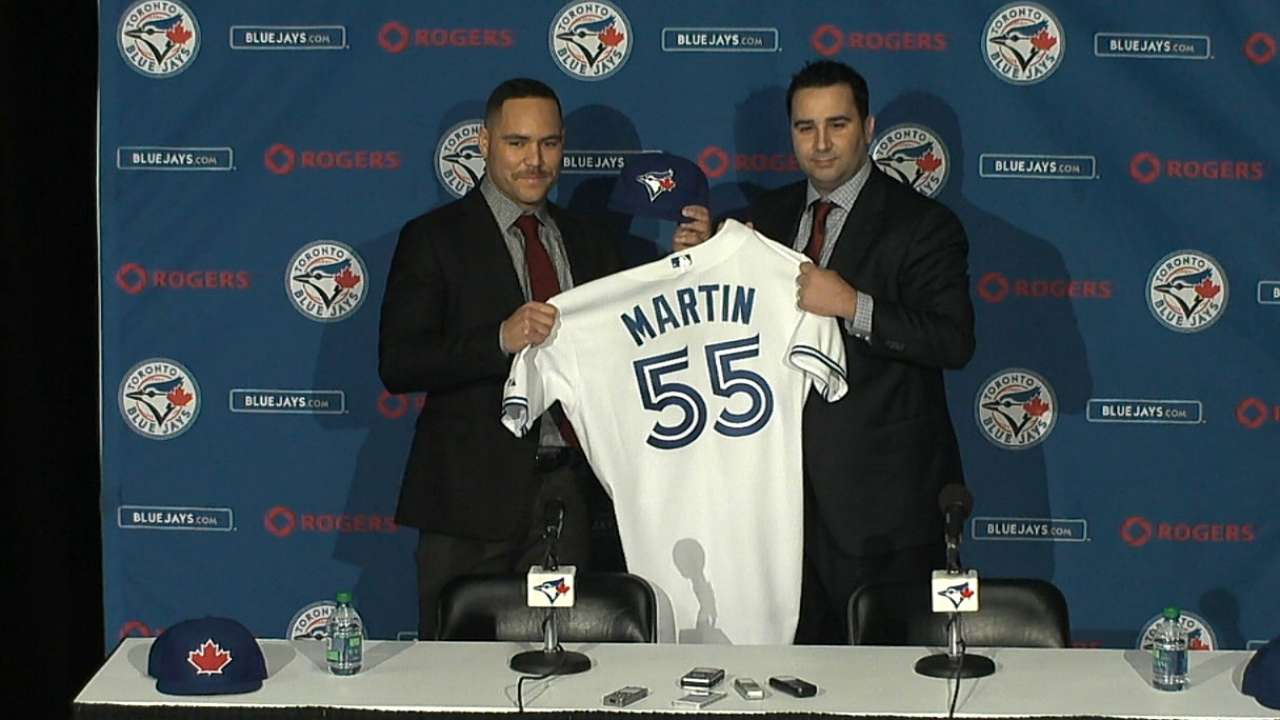 Martin excited to be a Blue Jay