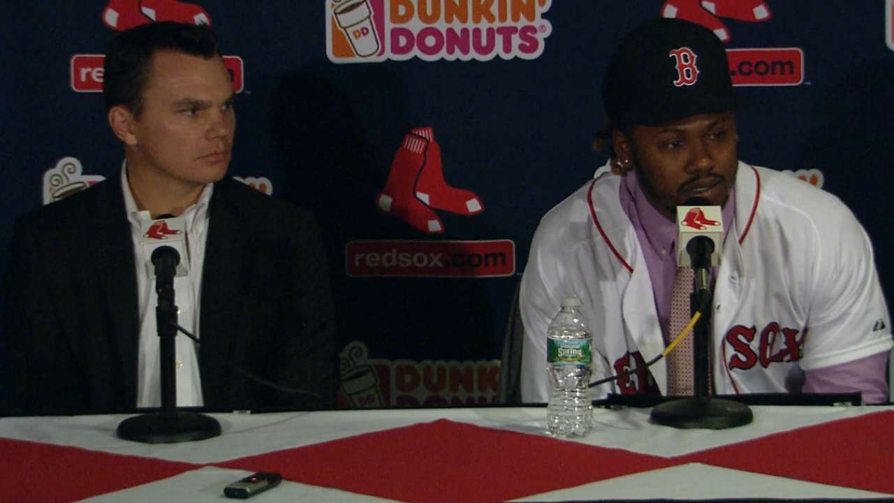 Red Sox welcome Hanley