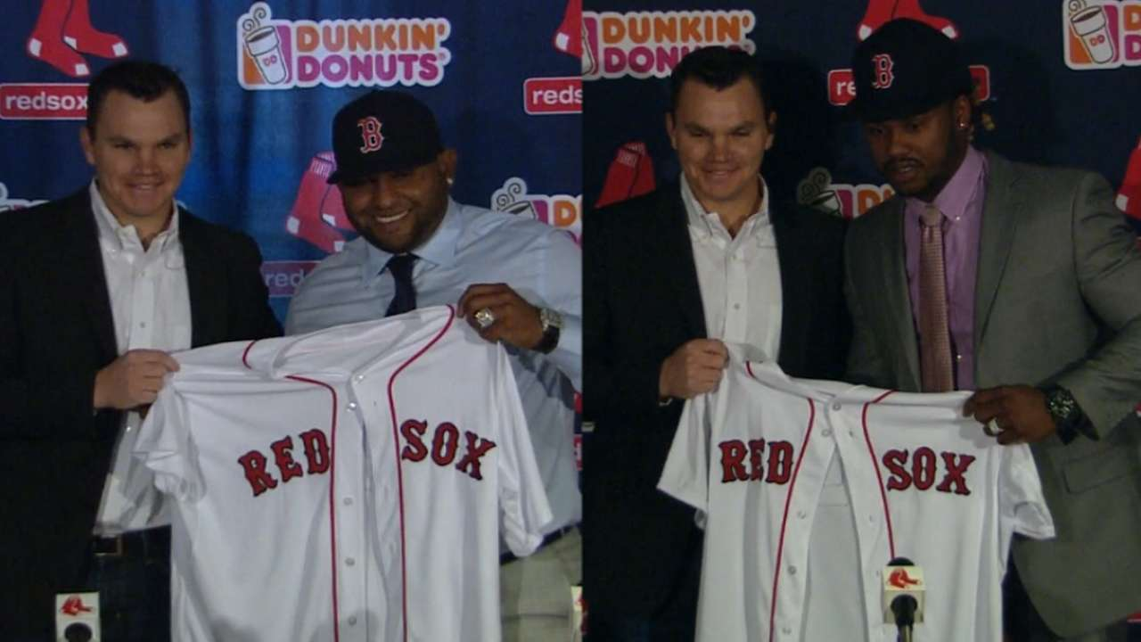 Pablo, Hanley join Red Sox
