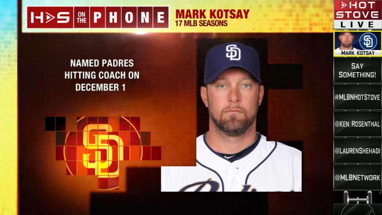 Padres tab Kotsay as new hitting coach