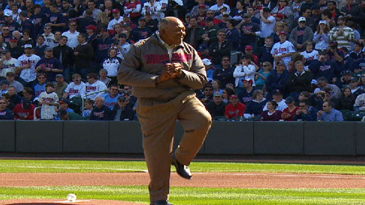 Oliva throws first pitch