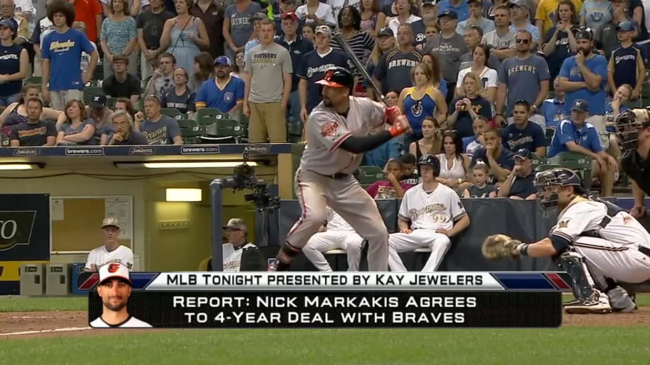 MLB Tonight: Markakis to Braves