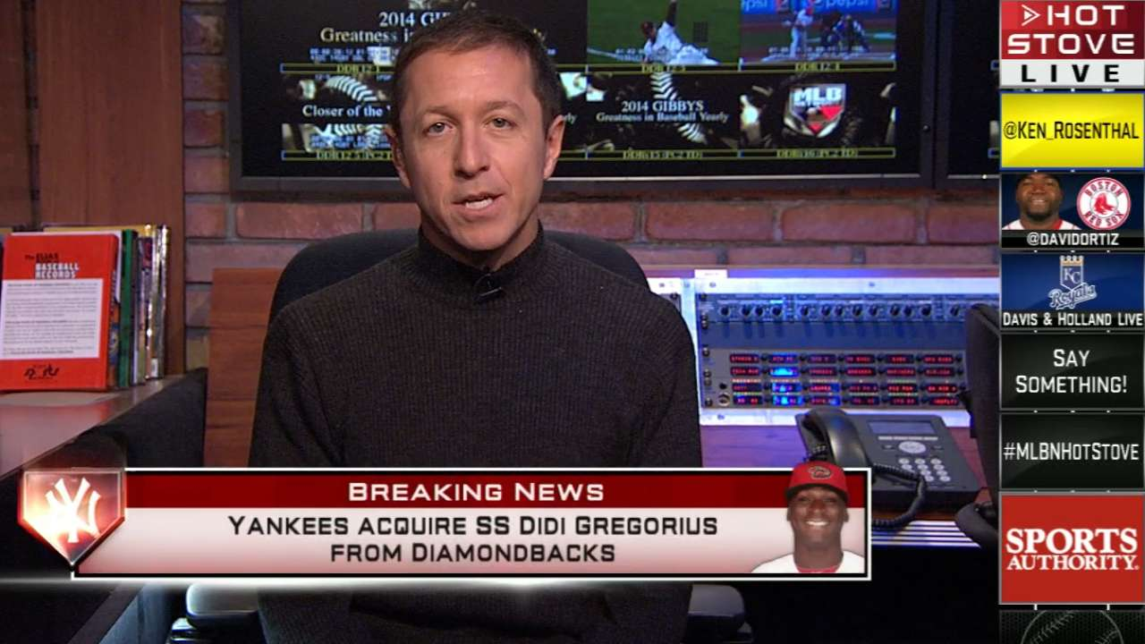Yankees acquire shortstop Gregorius to succeed Jeter