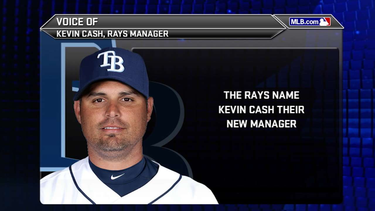 Rays excited about Cash's dedication, preparation