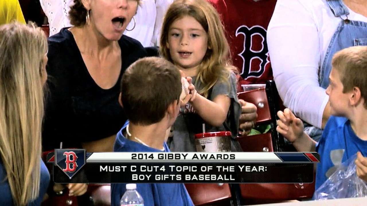 Young fan's generosity earns Red Sox GIBBY nod