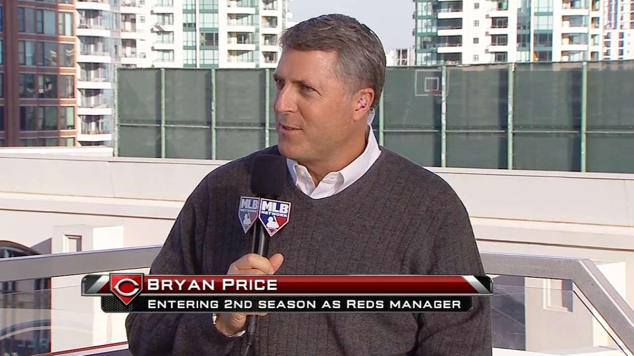 Reflecting on first year, Reds' Price talks improvements