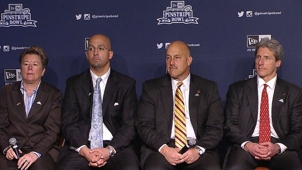 Tradition-laden schools amped for Pinstripe Bowl