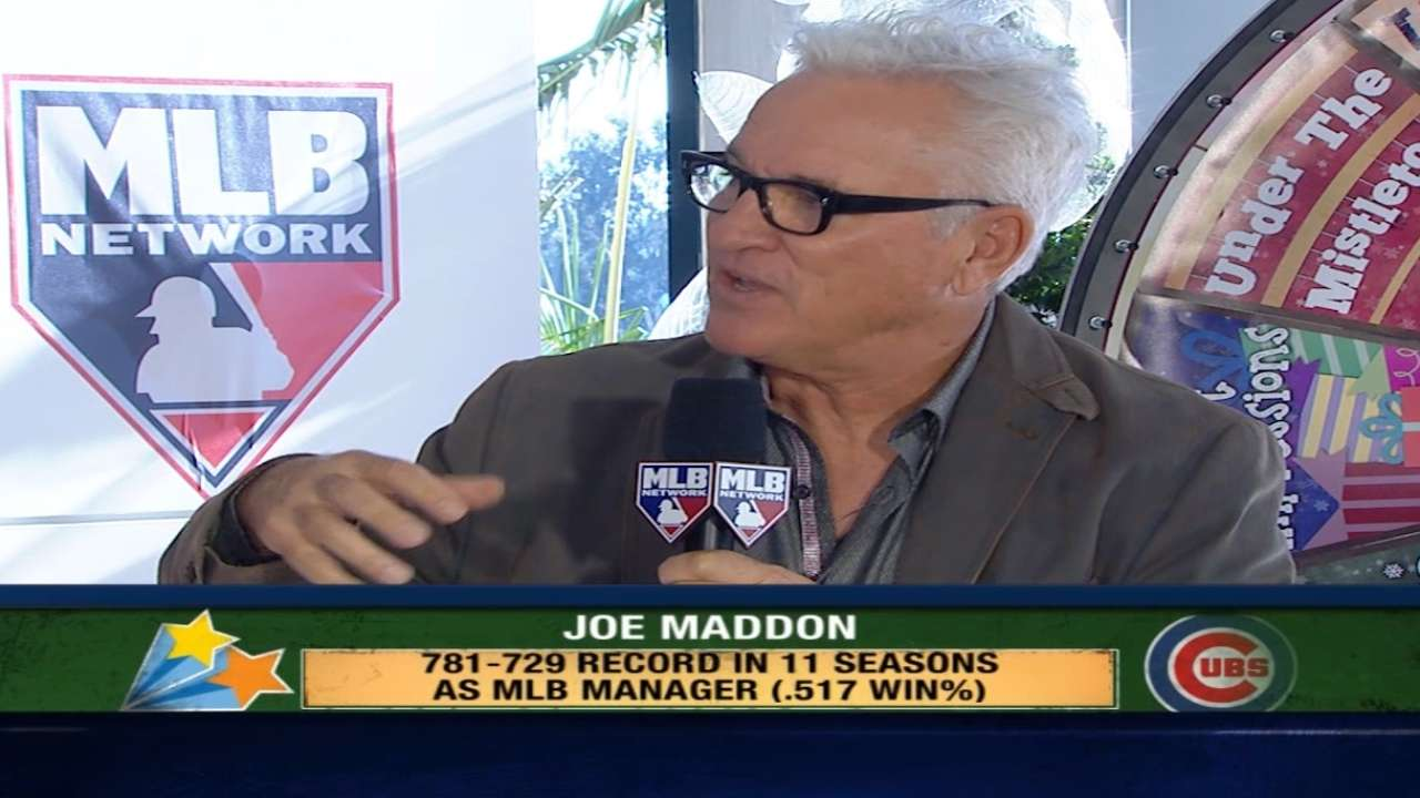 Joe Maddon spends time with IT