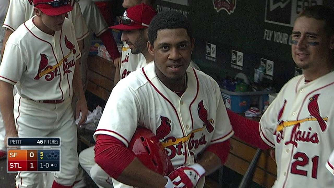 Taveras goes yard for first hit