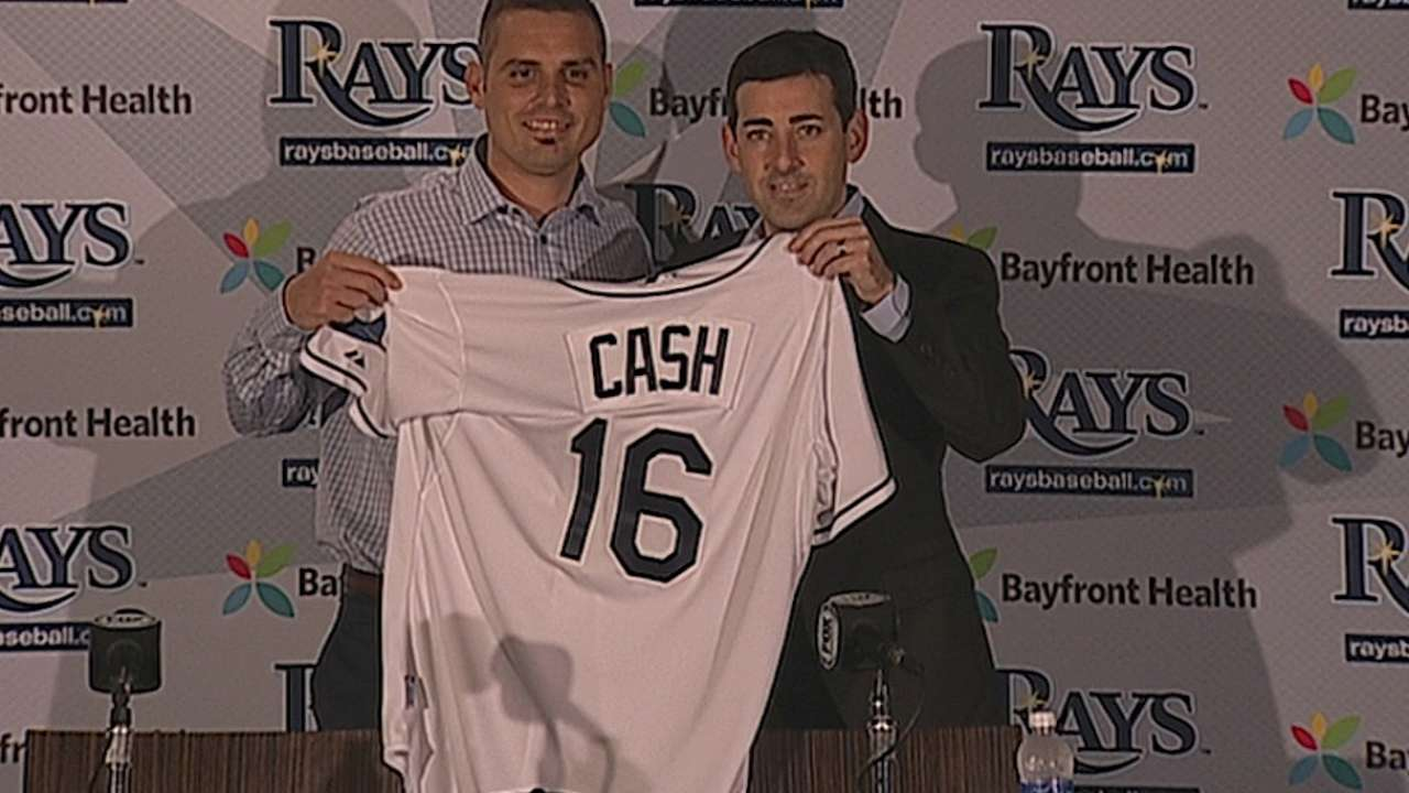 Cash excited to be home, eager to get to work with Rays