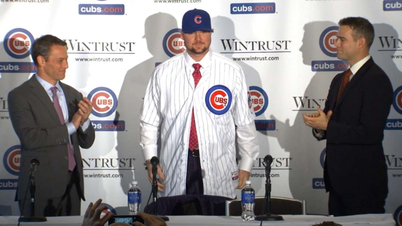 Cubs introduce lefty ace Lester