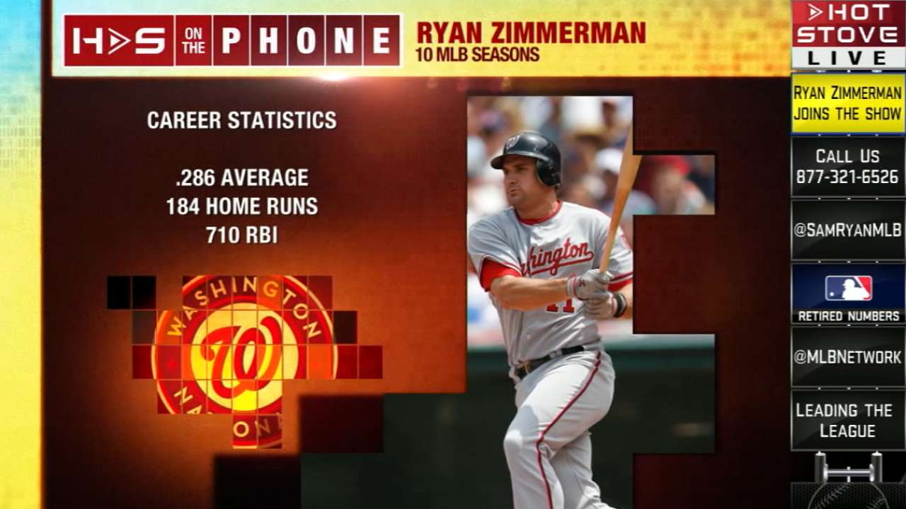 Zimmerman calls in to Hot Stove