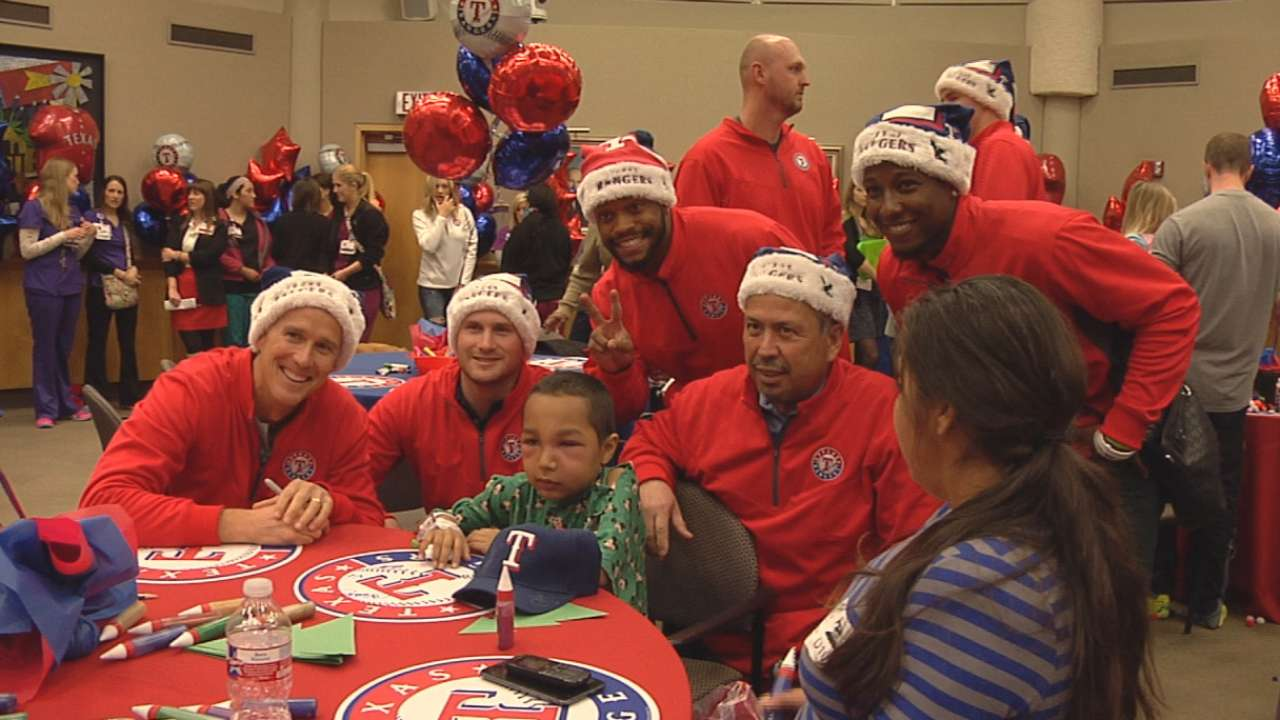 Visit to children's hospital extra special for Banister