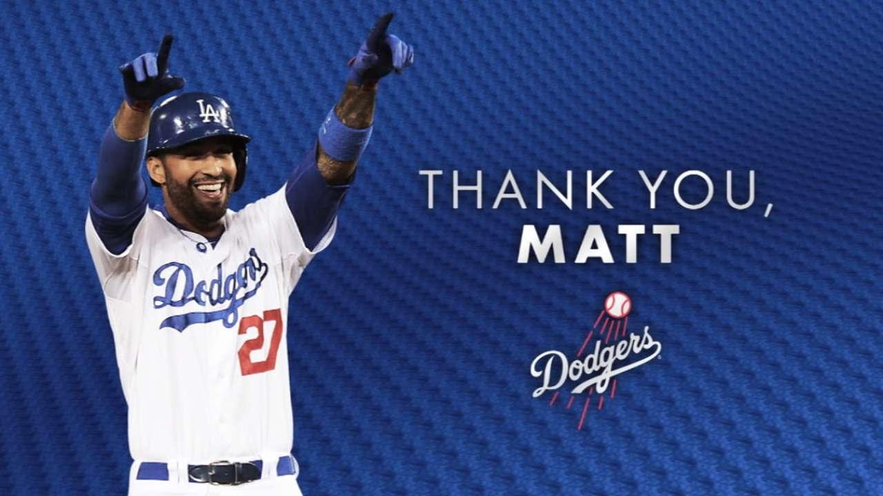 The Dodgers Thank Matt Kemp