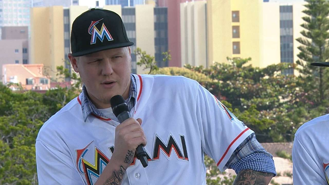 Latos excited to join Marlins