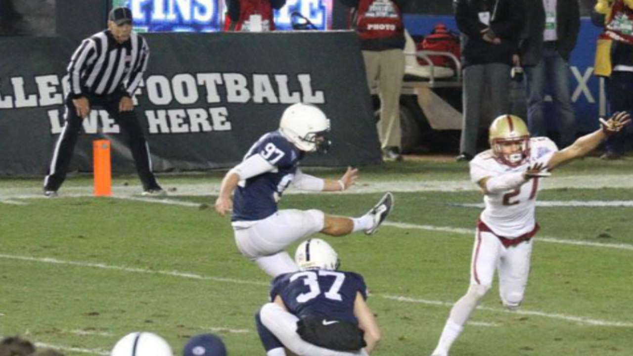 Penn State kicker takes cue from Captain Clutch