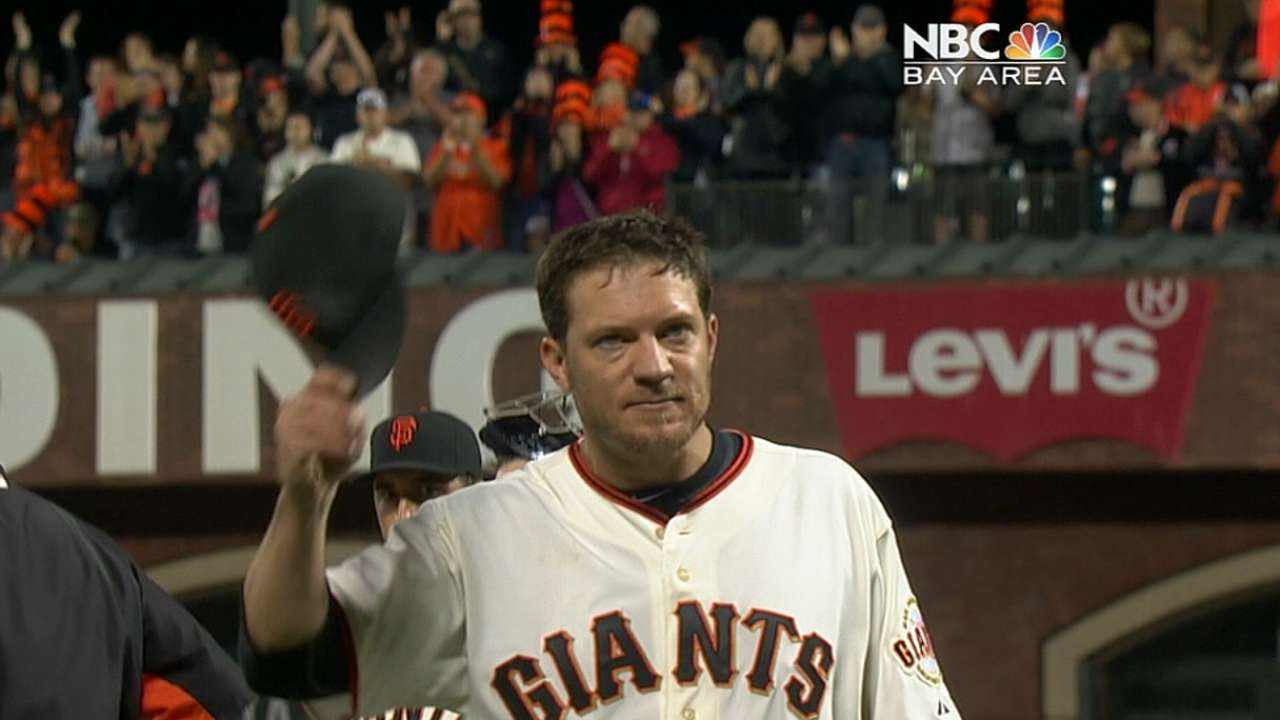 Peavy on re-signing with Giants