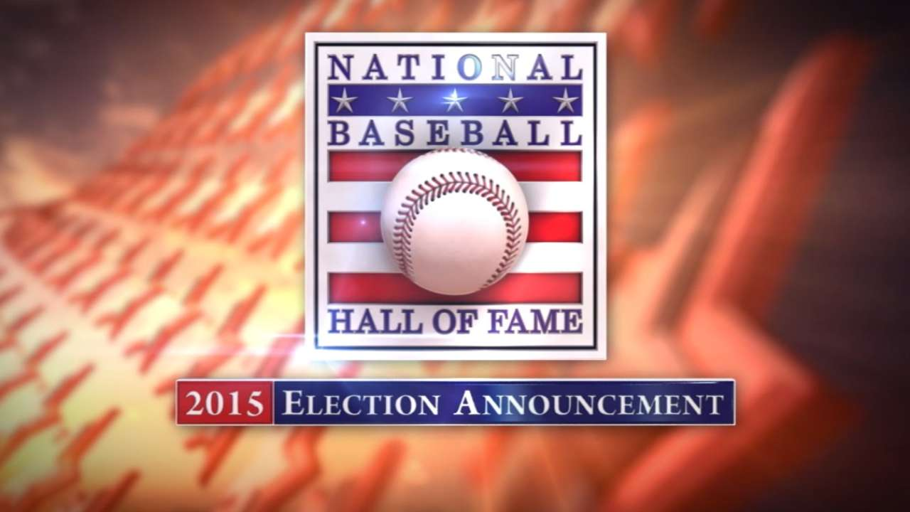 2015 Hall of Fame announcement