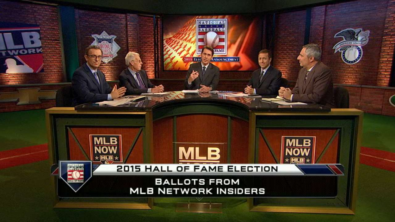Vote breakdown for Hall of Fame Class of 2015