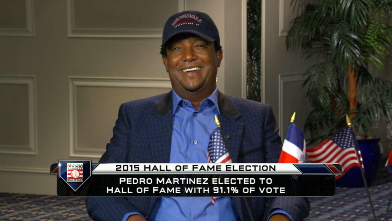 Pedro elected as first-ballot Hall of Famer