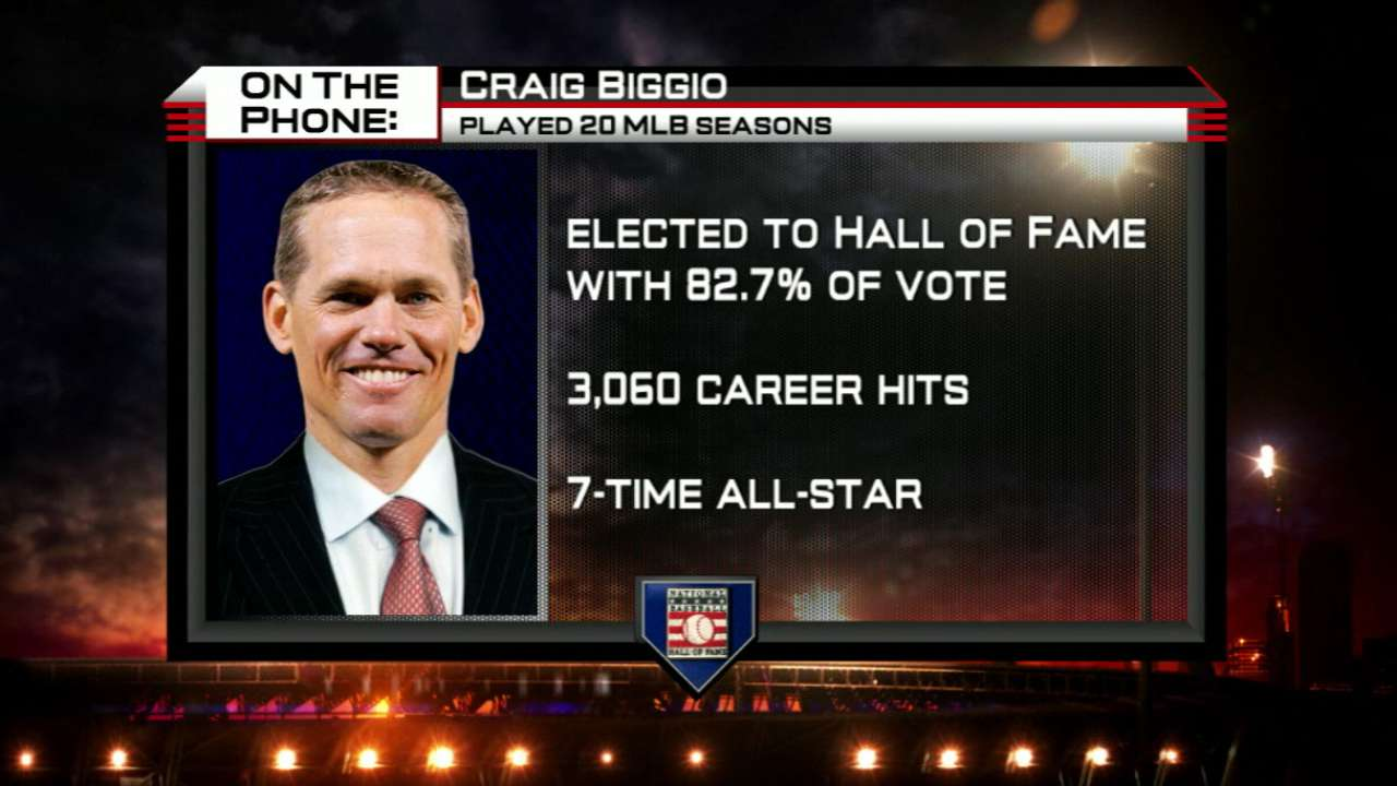 Biggio on being elected to HOF