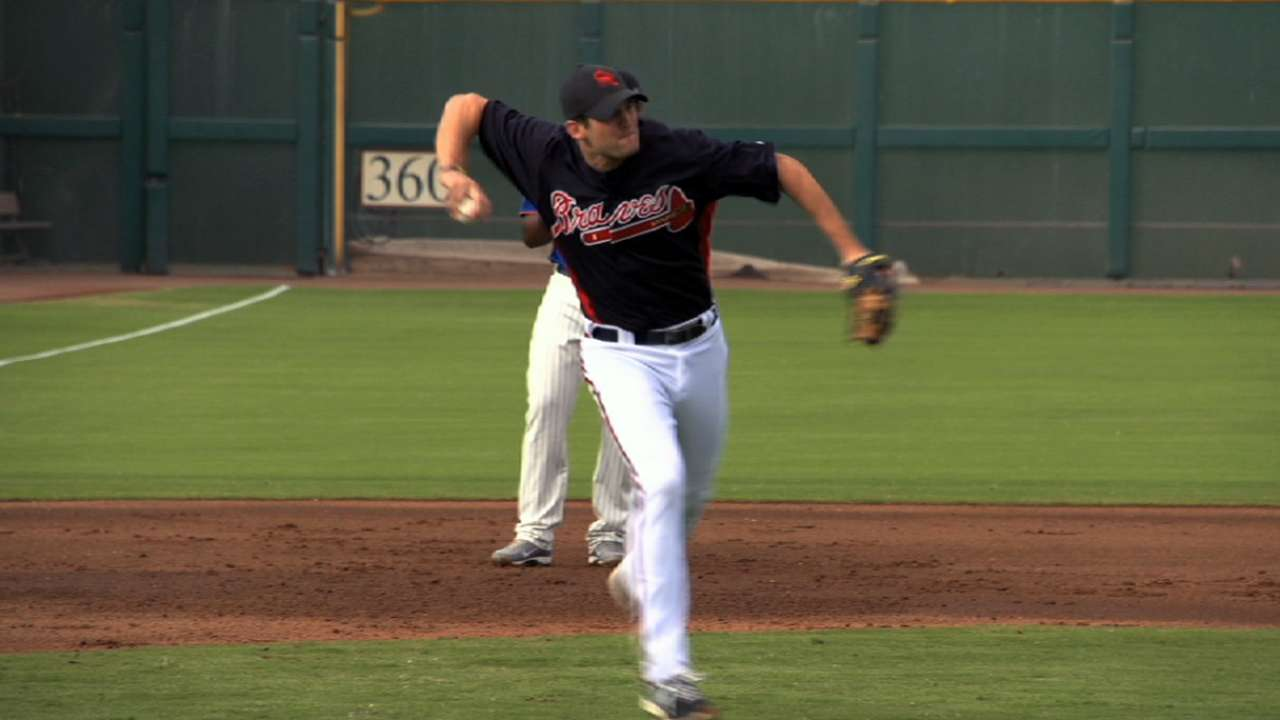 Angels acquire third-base prospect from Braves