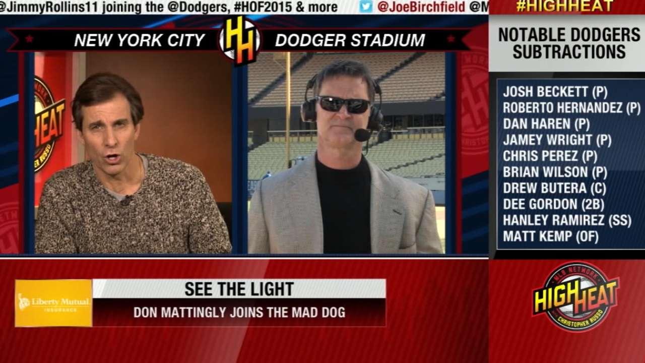 Mattingly addresses center-field battle, roster reshaping