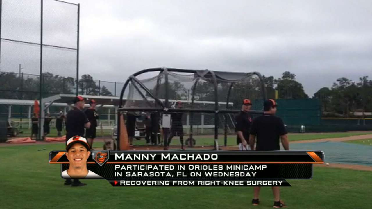 Knees feeling 'great,' Machado ready for Spring Training