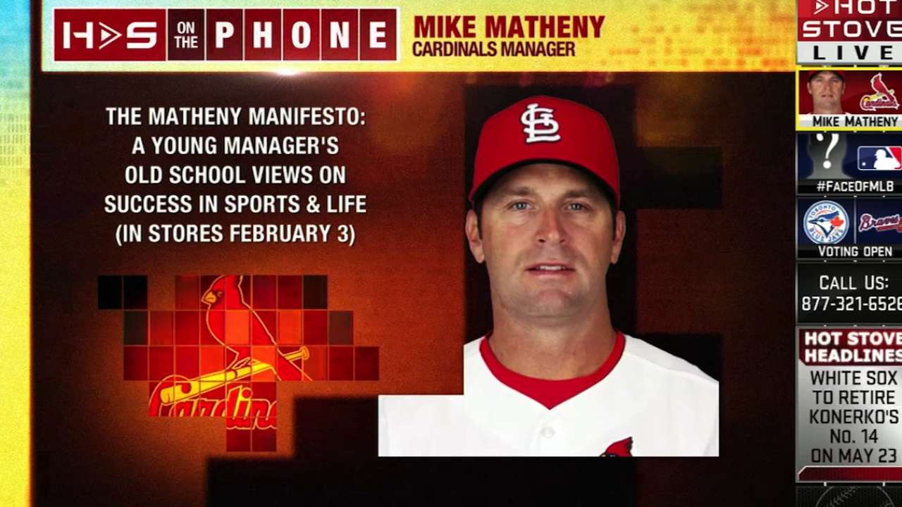 Matheny's book seeks to affect change in youth sports