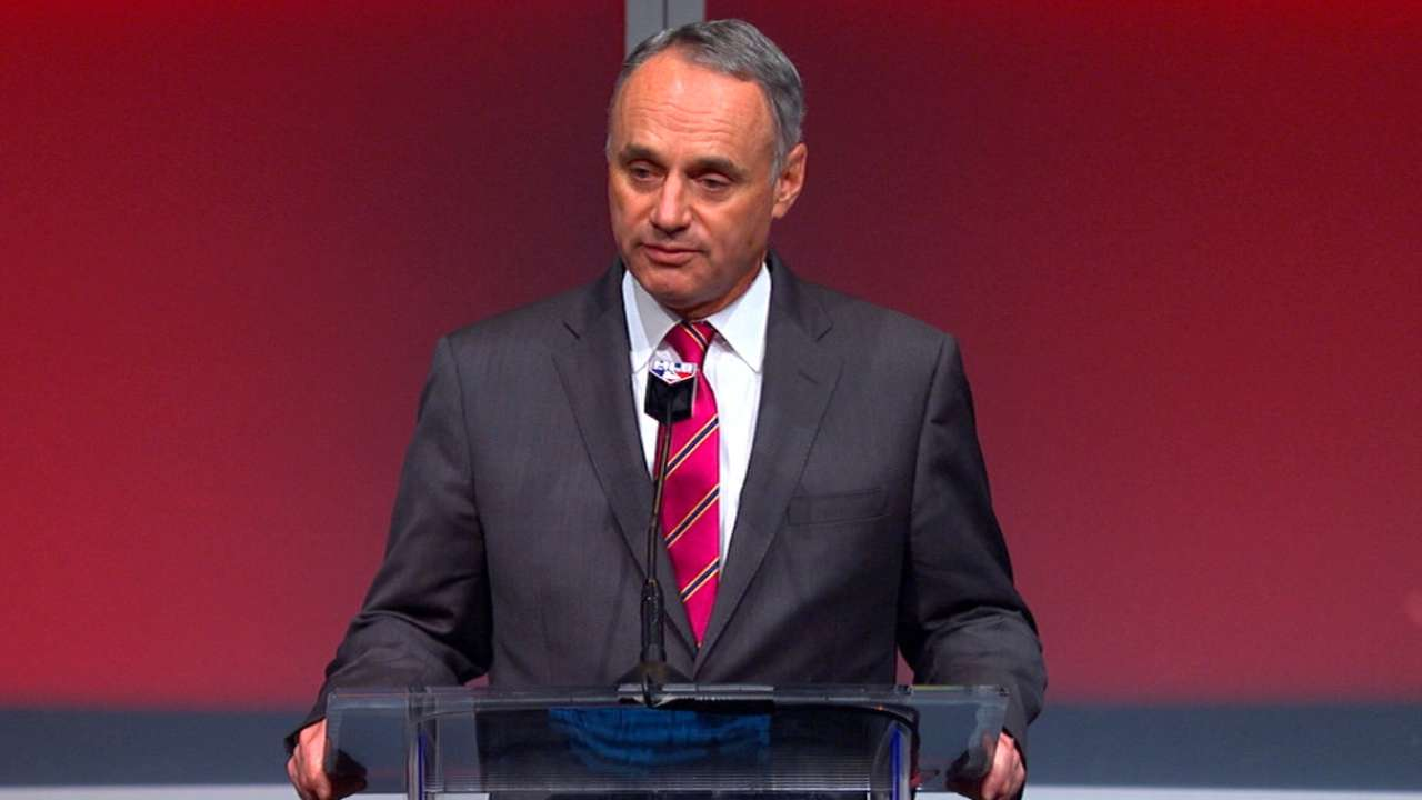 Manfred thanks Selig at PBSFA