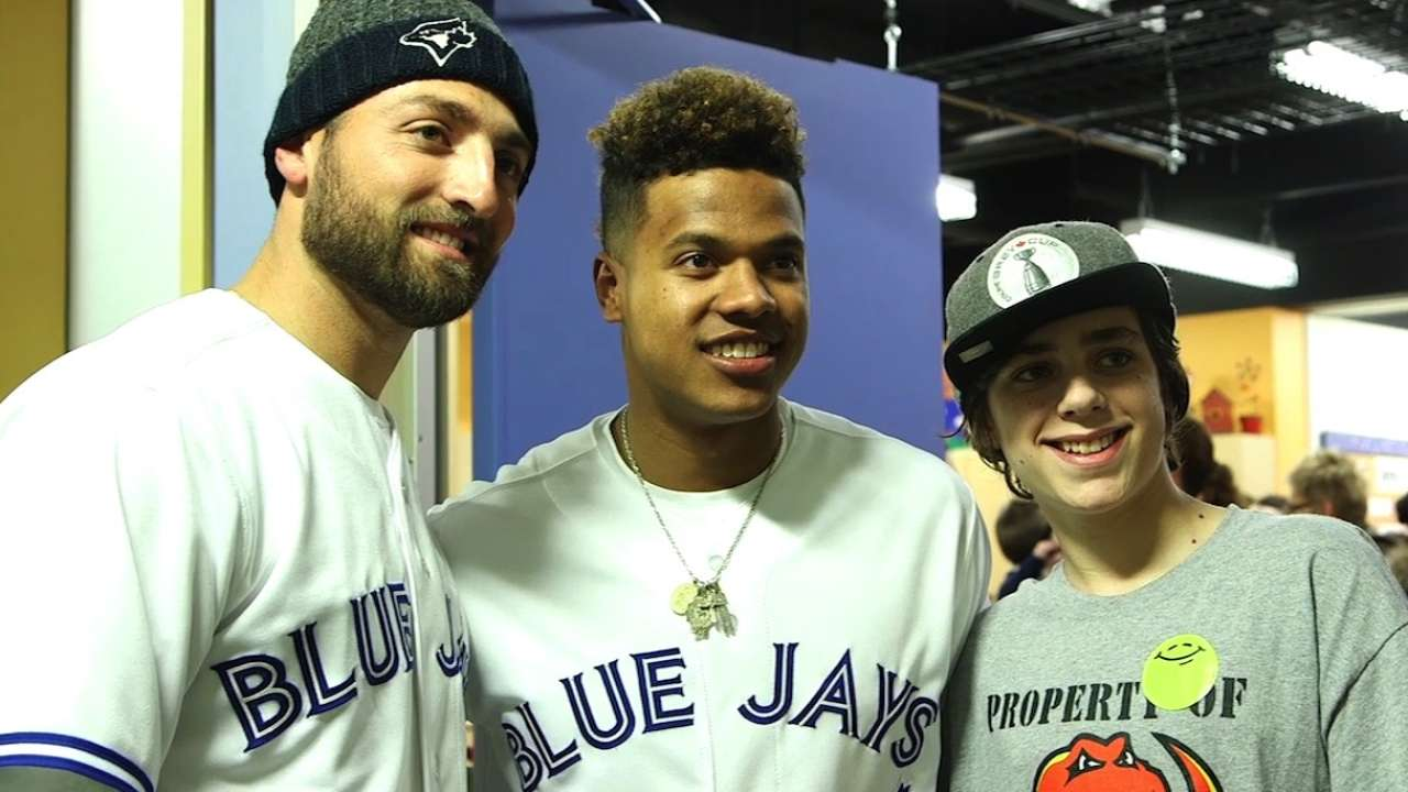 Blue Jays end Calgary tour with luncheon