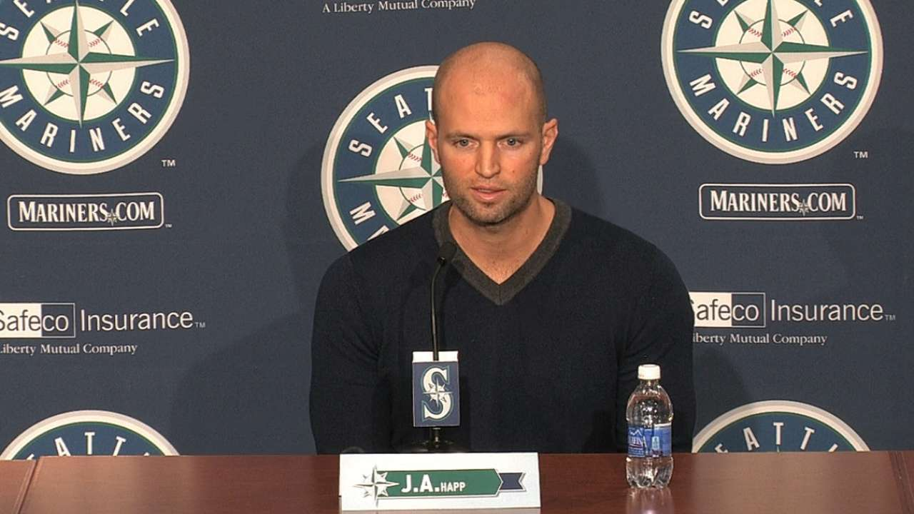 Happ excited to join Mariners