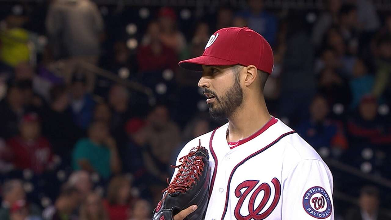 Gio can't hide excitement to be part of Nats' rotation